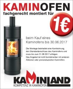 Aktion Kaminofen fachgerecht montieren für 1 Euro | Kaminland-Essen